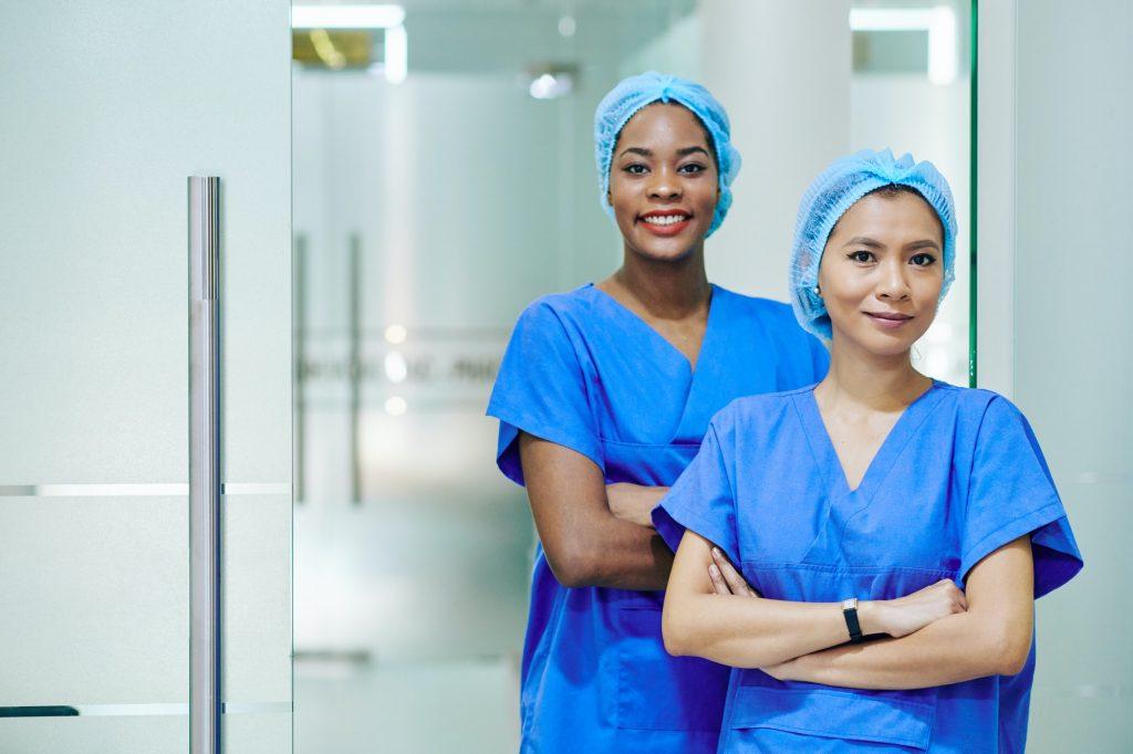 Pretty multi-ethnic medical nurses